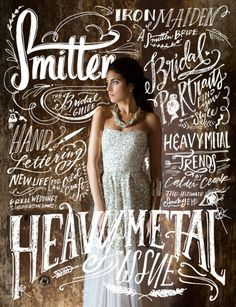 Smitten Magazine's 9th Issue | Heavy Metal Edition - you really have to look twice at this cover.