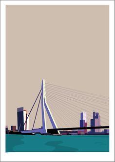 Rotterdam Screen printed illustration. www.29north.co.uk