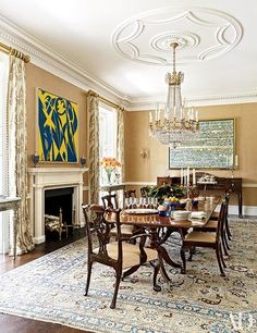 The dining room of a Houston home decorated by Elissa Cullman. | archdigest.com