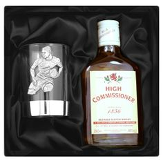 Engraved Pewter Rugby Tumbler and Whisky Gift Set  from Personalised Gifts Shop - ONLY £34.99