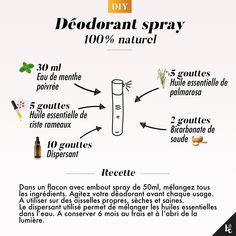 A twig deodorant that's non-aggressive for our pores and skin and smells of important oils? Ultimate for a day with no hiccup, this deodorant shall be your ally in all circumstances. A simple recipe to make with only a few elements at hand. Beauty Care, Diy Beauty, Beauty Hacks, Beauty Box, Homemade Beauty, Diy Cosmetic, Deodorant Spray, Serum, Homemade Cosmetics