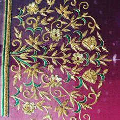 Wedding Saree Blouse Designs, Pattu Saree Blouse Designs, Choli Designs, Sleeve Designs, Black Blouse Designs, Hand Work Blouse Design, Simple Embroidery Designs, Maggam Work Designs, Hands