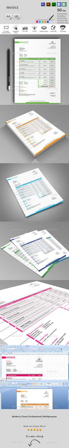 Invoice Template | Download: http://graphicriver.net/item/invoice/9920879?ref=ksioks