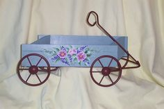 Hand Painted Decorative Wagon