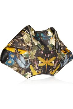 Alexander McQueen | The De Manta printed silk-satin clutch |   I am obsessed with this bag!