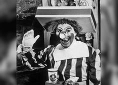 You probably don't think that Ronald McDonald is much of a looker now, but his current incarnation is a definite upgrade from where he started. This is a photo of the original Ronald McDonald in 1963.