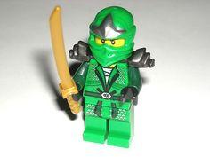 LEGO Ninjago Lloyd ZX Green Ninja Minifigure Minifig w/ Pearl Gold Katana 9450 $29.99