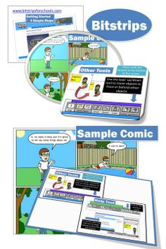 Bitstrips for Schools is an educational tool that engages students using Comics!  •	Fun and social comic-making tools •	100% web based with nothing to install •	Teach a wide range of critical skills •	Adapt lessons for any subject •	Great for K-12, College or University students