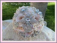 PINK BROOCH BOUQUET - Deposit for Elegant Brooch Bouquet in stunning pale pink blush design, brooch bouquet, pink brooch bouquet 295.00