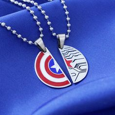 STUCKY Necklace Winter Soldier Captain America Friendship/Soul mate necklace Stainless Steel