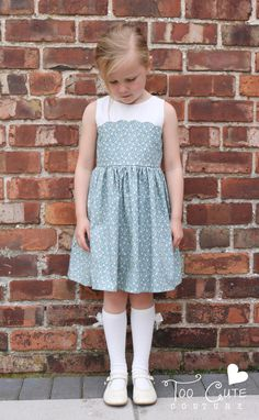 Petit Four Dress and Apron - vintage style pdf sewing pattern – Duchess & Hare Cute Young Girl, Cute Little Girls, Little Girl Dresses, Girls Dresses, Flower Girl Dresses, Little Girl Pictures, Girl Doctor, Vintage Style, Vintage Fashion