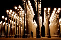 Miracle Mile, Los Angeles, CA Sculpture by Chris Burden  @ LACMA