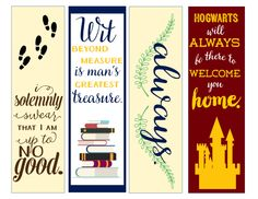 Printable Harry Potter bookmarks