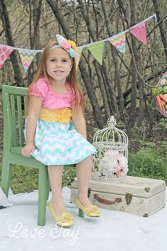 "Girls Easter Spring Peasant style dress ""Layla Love"" boutique hand made 6-9 month to 6T...Love Tay Boutique on Etsy, $47.00"