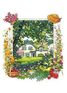 Anne of Green Gables Anne Green, Anne Of Green Gables, Landscape Illustration, Illustration Art, Anne Of The Island, Anne White, Anne Shirley, Pop Art, Chef D Oeuvre