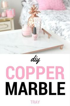 Copper Marble Tray DIY Tutorial//decor//gifts//