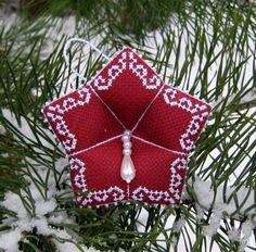 ...динь-динь-динь,   Колокольчик звенит...   Наконец-то я завершила свою новогодне-вышивальную эпопею. Ура!  Если честно, подустала немног... Christmas Bells, Christmas Cross, Christmas Decorations, Xmas, Christmas Ornaments, Handmade Ornaments, Handmade Christmas, Bazaar Ideas, Hardanger Embroidery