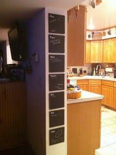 chalkboard vinyl planner tutorial Chalkboard Vinyl, Apartment Needs, Diy Ideas, Craft Ideas, Home Planner, Painted Wood Signs, Silhouette Machine, Creative Outlet, Chalkboards