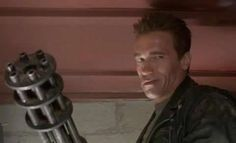 #TotalRecallBook  Arnold in Terminator 2.  That facial expression!