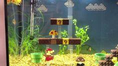 Vidéo de l'Aquarium conçu en Lego à la gloire de Super Mario.