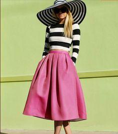 2015 ženy ležérne sukne Midi Linka svetlice skladaný Módne Street Style Dámske Solid Black Plain Casual Klasické Sukne plus size-in Sukne od Dámske oblečenie a doplnky na Aliexpress.com | Alibaba Group