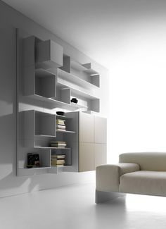 Sectional MDF storage wall VITA by MDF Italia | #design Massimo Mariani, Aedas R&S