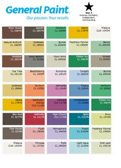 General Paint Star 3 Colour Pallet Suggestions Intense Confident Independent And Commanding