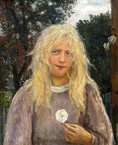 "alongtimealone: ""Hans Heyerdahl (1857-1913) The Girl with Linen Hair- (by BoFransson) """