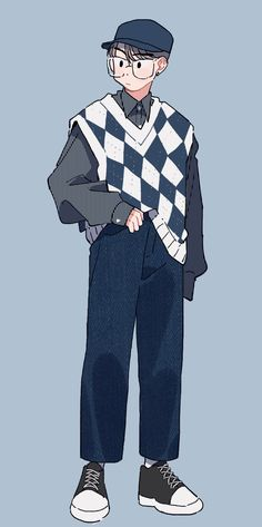 18 Cute Art Styles, Cartoon Art Styles, Boy Illustration, Character Illustration, Arte Do Kawaii, Clothing Sketches, Korean Art, Art Reference Poses, Drawing Clothes