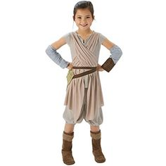 Star Wars Episode 7 Rey Kostüm 5-6 Yaş, parti konsepti