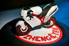Ducati motorcycle groom's cake.