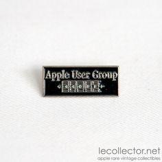 Apple user group France very rare metal lapel pin