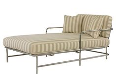 Gulf Stream Chaise, Stripe on OneKingsLane.com (nicer than indoor furniture!)