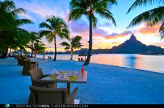 Tahitian Sunset in Bora Bora