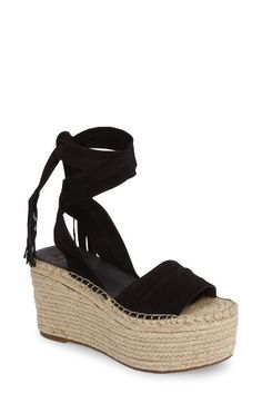 Free shipping and returns on Marc Fischer LTD Rabecca Lace-Up Platform Wedge (Women) at Nordstrom.com. A wrapped, braided jute wedge and platform keep all eyes on you in this sky-high sandal crafted from soft suede in a trendy lace-up silhouette.