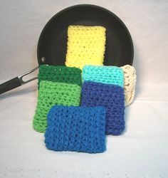 Pot Scrubbers pan scrubbies scour pads car by JazzysCrochet