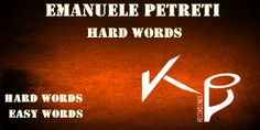 EMANUELE PETRETI - HARD WORDS