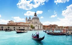 Venice – Grand Canal and beautiful Basilica Santa Maria della Salute. Photo by: Iakov Kalinin