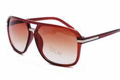 Classic Square Aviators Sunglasses Mens / Womens Vintage Double Bridge Plastic Brown Frame
