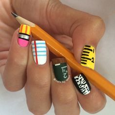 Cool Nail Design Ideas cool paint nail designs So Im Already Graduated But I Still Think This Is Pretty Cool For