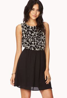 Throwback Embroidered Dress | FOREVER21 - 2040495528