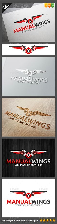 Manual Wings - Objects Logo Templates