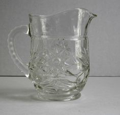 Glass Pitcher Creamer Vintage Early American Prescut Anchor Hocking Glass. $22.50*, via Etsy.