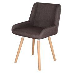 DANTE BROWN Silla estilo nórdico con estructura de madera de haya y asiento tapizado.  www.misterwils.com