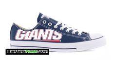"""Bandana Fever - Converse Low Navy """"NY Giants"""" by Bandana Fever, $164.99 (http://store.bandanafever.com/converse-low-navy-ny-giants-by-bandana-fever/)"""