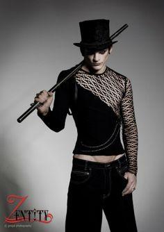 Heirconn Male Long Sleeve stretch and mesh Tshirt por zentity, $104.76