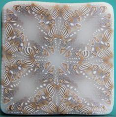 Translucent Polymer Clay Square Kaleidoscope Cane (40dd)