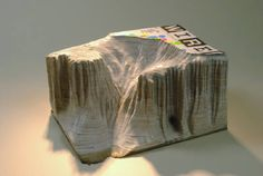 Foster White Gallery, Seattle presents Guy Laramée Page Book Sculpture, Sculptures, Book Crafts, Arts And Crafts, Artwork Display, Miniture Things, Paper Art, Fantasy Art, Watercolor Paintings