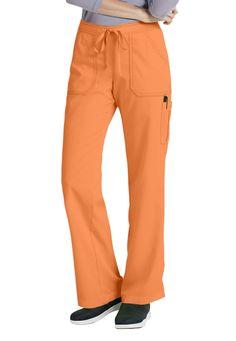 Greys Anatomy drawstring waist 4 pocket cargo scrub pant. Main Image