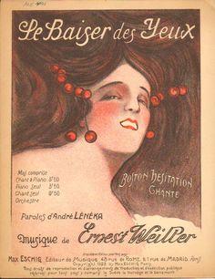 Le baisir des yeux art deco    Cover art Forestier  1927